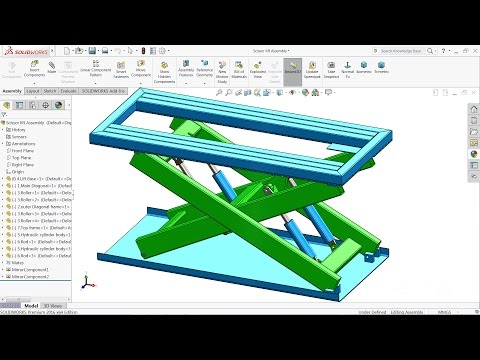 Solidworks tutorial | Design and Assembly Scissor Lift in Solidworks