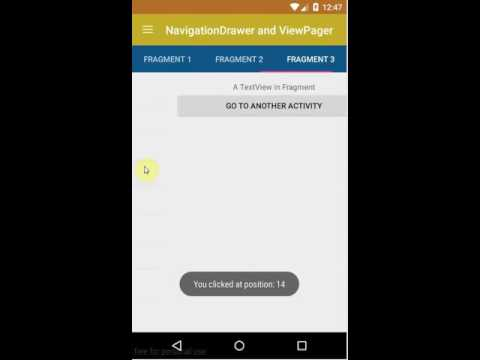 Android Basic Training Course: Combining Navigation Drawer