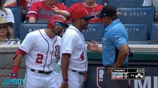 Adam Eaton and Dave Martinez get ejected in the first inning, a breakdown