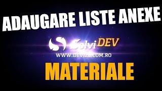Tutorial program devize solviDEV - adaugarea unei liste anexe de materiale