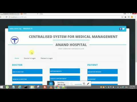 Medical Management System In PHP