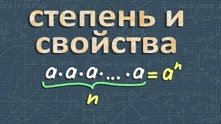 алгебра СТЕПЕНЬ С НАТУРАЛЬНЫМ ПОКАЗАТЕЛЕМ 7 класс