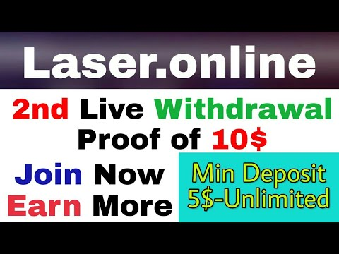 Laser.online | 2nd Live Withdrawal Proof Of 10$ | Join Now Earn More With Laser | [Hindi] Workwithdi
