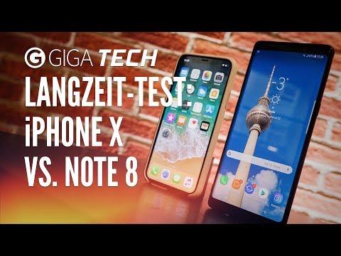 iPhone X vs. Samsung Galaxy Note 8 nach 4 Monaten – Langzeit-Vergleichstest (deutsch) – GIGA.DE