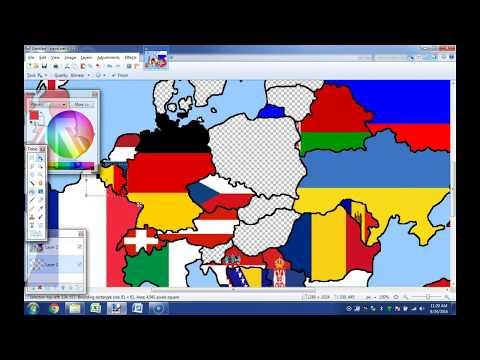 Europe Flag Map Timelapse