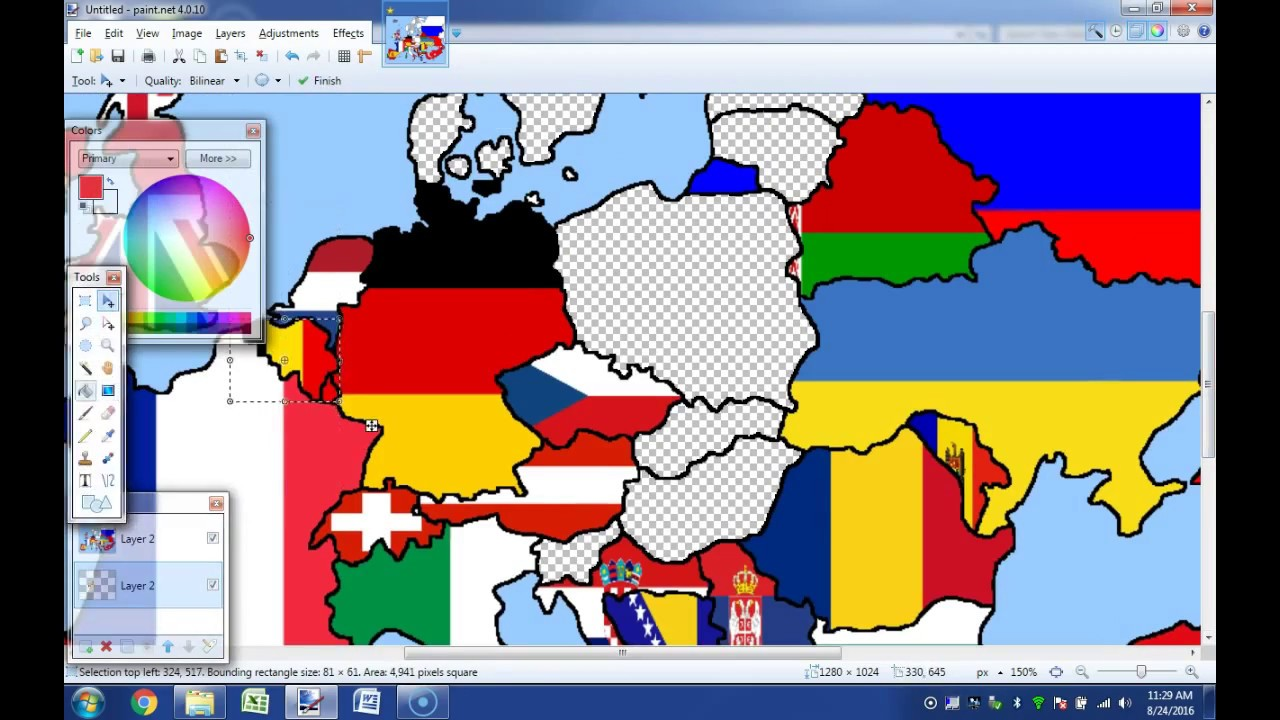 map of europe time lapse Europe Flag Map Timelapse   YouTube