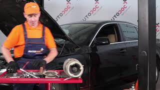 How to replace ABS wheel speed sensor on FORD S-MAX - video tutorial