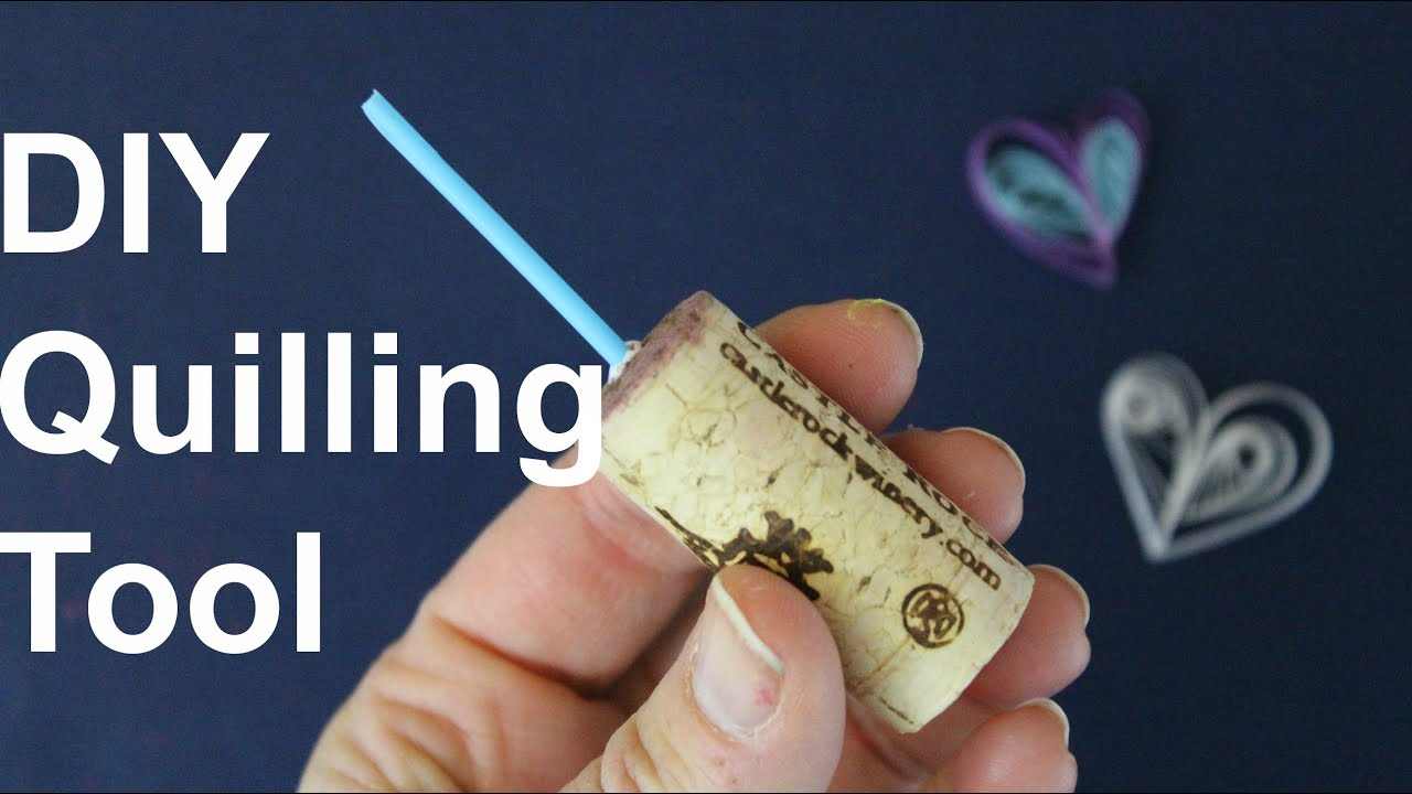 Diy quilling tool youtube for How to make your own quilling paper