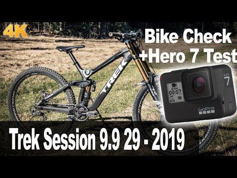 "Bike Check Trek Session 9.9 29"" 2019 mit Hero 7 BLACK!"