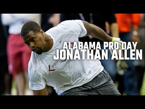 Watch Jonathan Allen at Alabama Pro Day