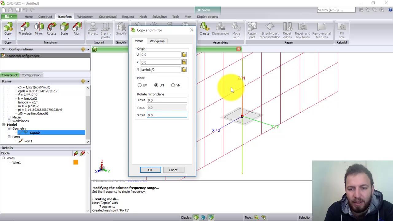 Tutorial 3 - Design an Antenna Array of Dipole Using FEKO Software