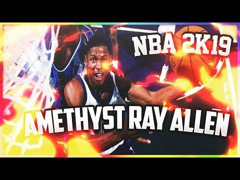 NBA 2K19 MyTeam Crazy comeback with Amethyst Ray Allen!  Amethyst Ray Allen Gameplay