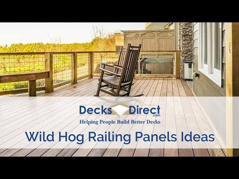 Using Wild Hog Railing Panels On Your Deck - YouTube