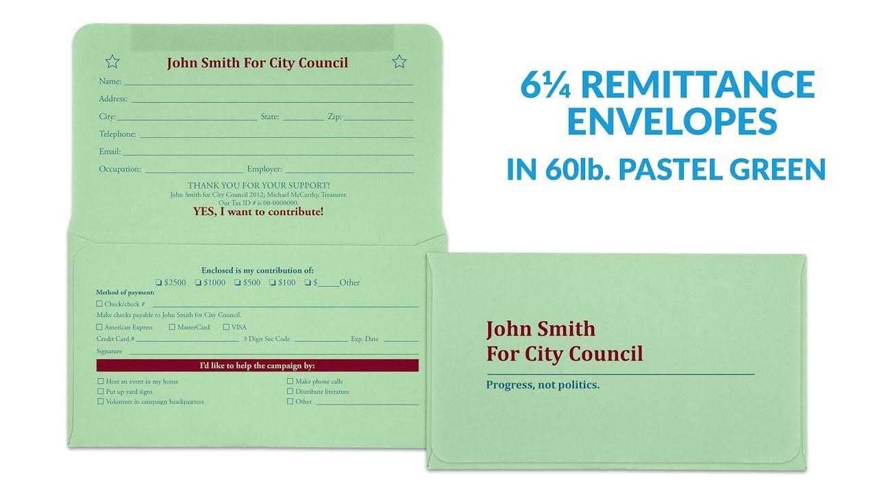 6 Remittance Envelopes Youtube