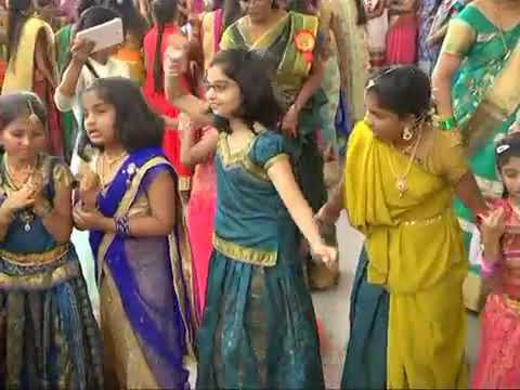 Bathukamma song little kids