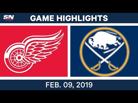 NHL Highlights | Red Wings vs. Sabres - Feb. 9, 2019