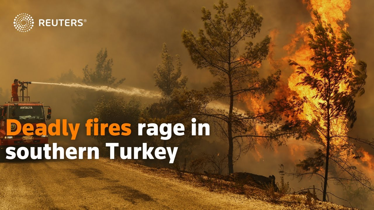 Download Deadly fires rage in southern Turkey