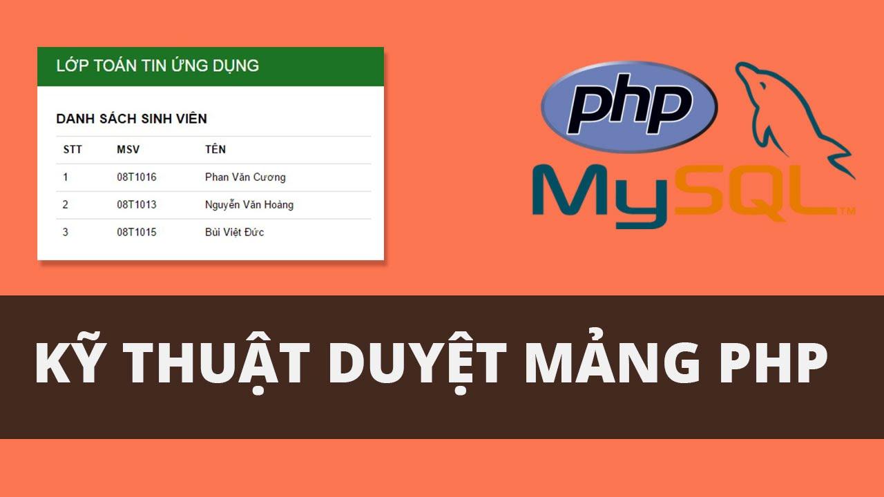 Cách duyệt mảng một chiều, đa chiều trong PHP
