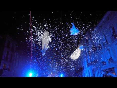 Feathers and angels over Pezenas. Inaguration Cour Jean Jaurs Pezenas 15 dec