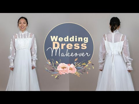 Wedding Dress Makeover Ep. 2 - Lace, Ruffles, and Chiffon!