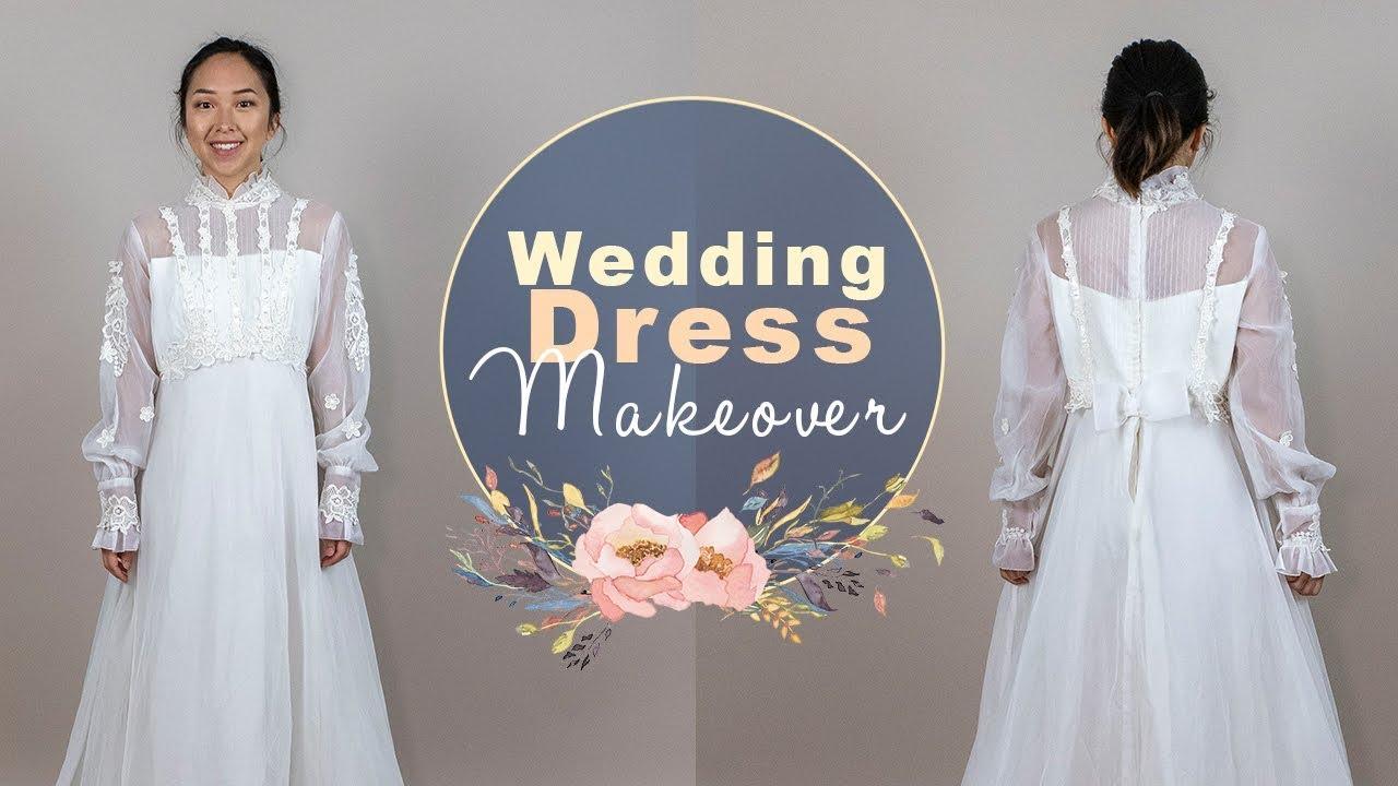 63d9b90f9f Wedding Dress Makeover Ep. 2 - Lace, Ruffles, and Chiffon! - YouTube