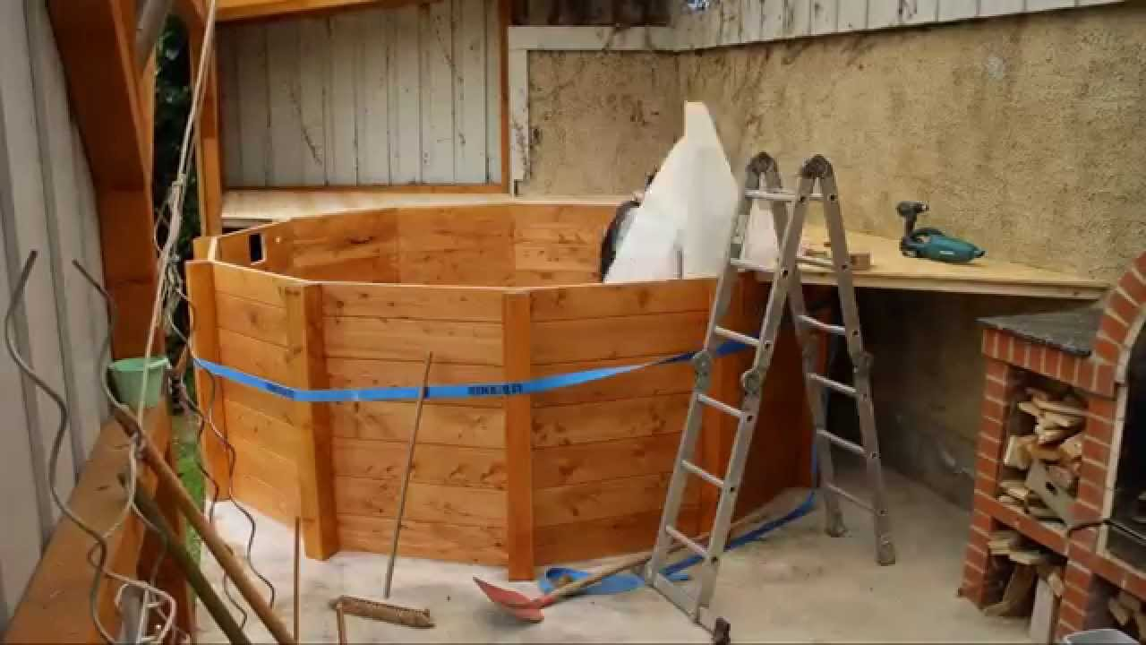 poolbau aus holz - youtube