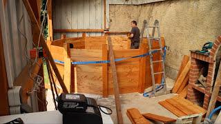 Poolbau  aus Holz