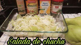 Oi gente td com vcs Hj fiz salada de chuchu (xuxu)simples porem mui...