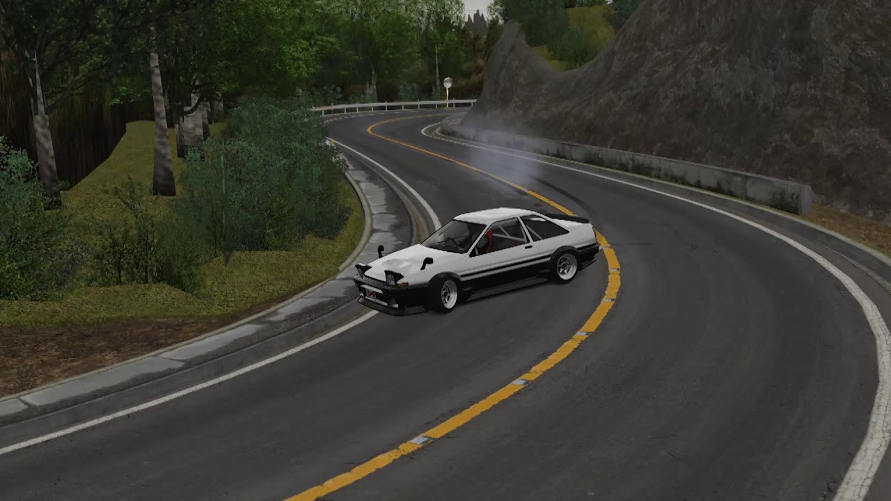 Low Power AE86 Touge Drift! Myogi Downhill! - Assetto Corsa by StreetVersion