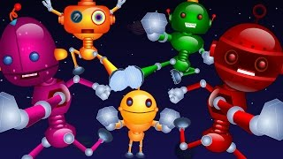 Nursery Rhymes By Kids Baby Club - Five Little Robots Jumping On The Bed   Nursery Rhymes For Kids