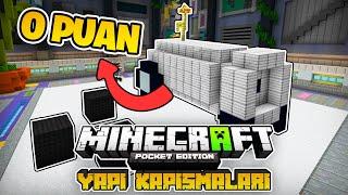 HERKESE 0 PUAN VERDİ!! | Minecraft PE Yapı Kapışmaları [Just Build]