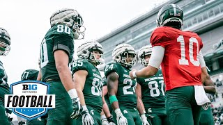 Michigan State Gets After It During Spring Practice Drills   Michigan State Football
