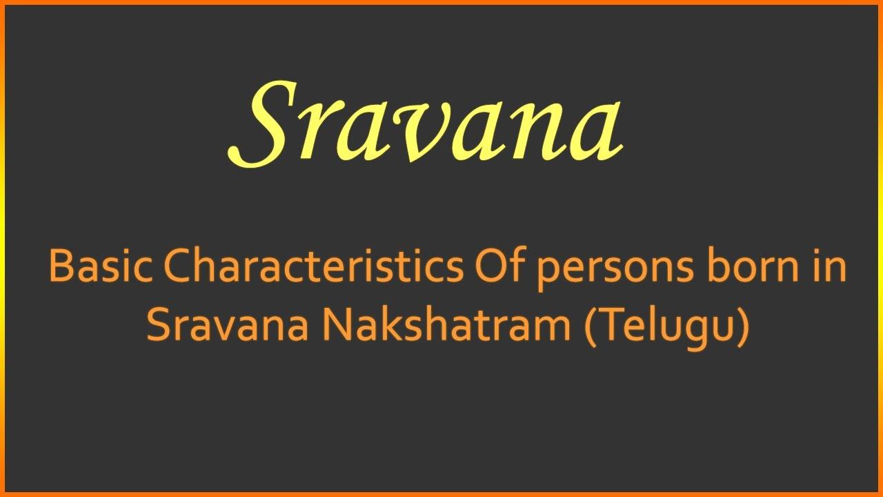 Basic Characteristics Of Persons Born In Sravana