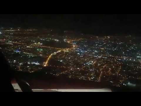 Beautiful Muscat, Oman Airport before landing