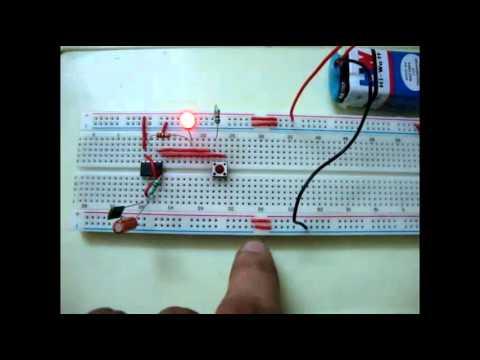 555 Timer Monostable Multivibrator