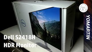 Dell S2418H InfinityEdge HDR MONITOR UNDER $300!!! UNBOXING!