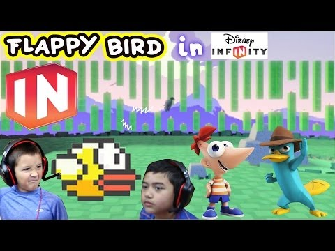 Phineas & Perry turn into Flappy Bird Disney Infinity Toy Box Share (Face Cam) Birdie Blitz