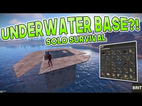 UNDERWATER BASE?! | Rust SOLO SURVIVAL