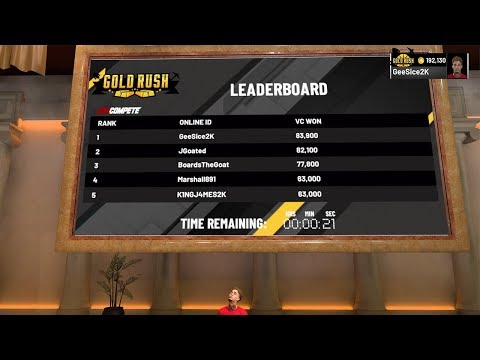 FIRST GOLD RUSH WINNER ON NBA 2K19! UNLIMITED BOOST! GOLD JERSEY! GEESICE 94!