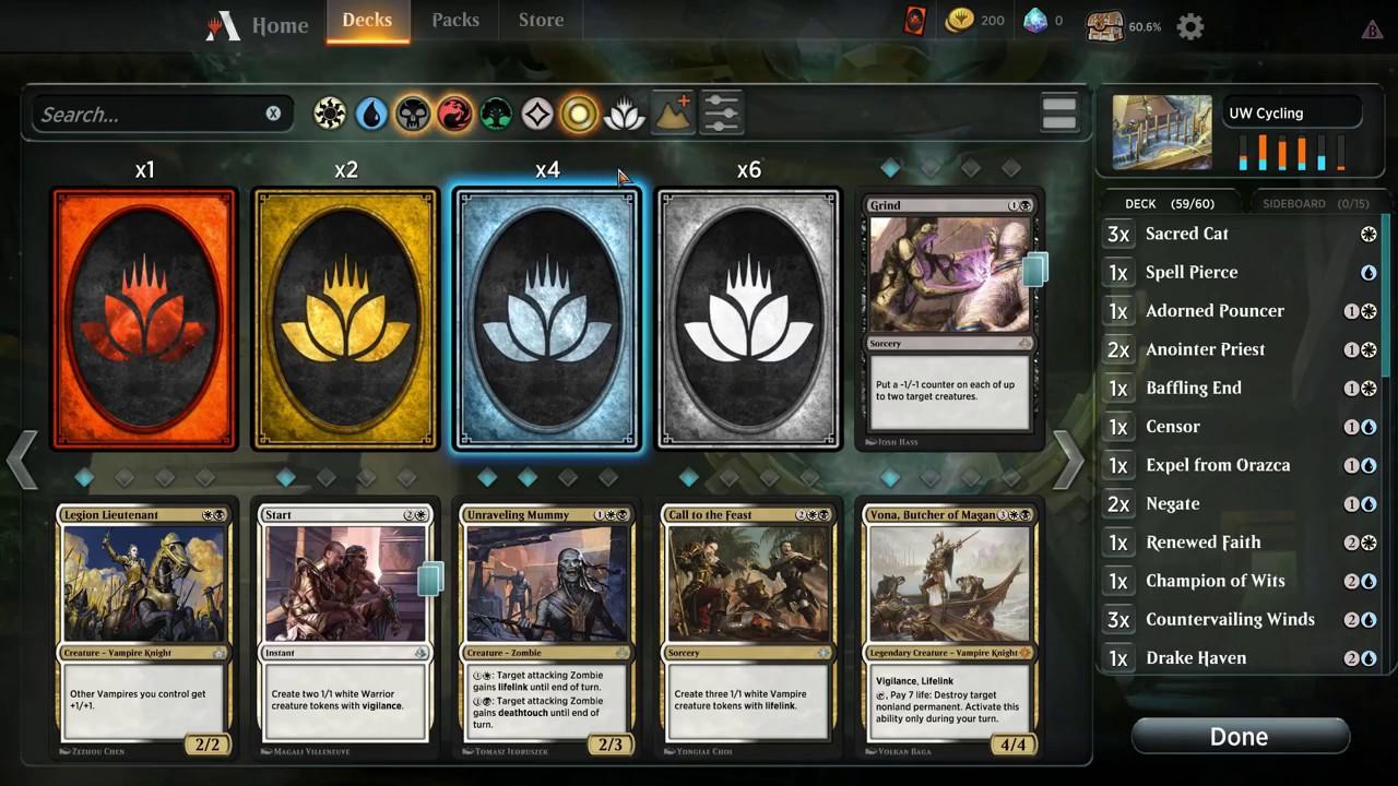 MTG Arena: Deck Editor and Custom Deck