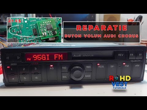 How to fix the volume control problem for Audi Chorus made by Blaupunkt MC68HC05B32