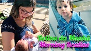Rotina da manhã Cadu e Bebê Caio Augusto - Morning Routine