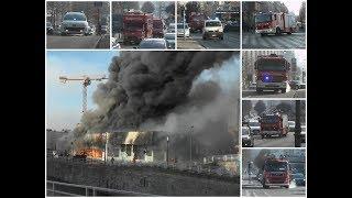 Zeer grote brand in Centrum van Brussel! Hulpdiensten rukken groots uit!