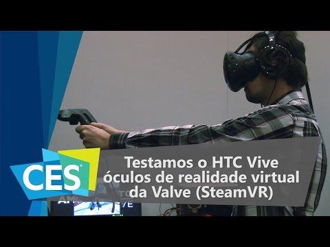 Testamos O HTC Vive, óculos De Realidade Virtual Da Valve (SteamVR) - CES 2016 - TecMundo