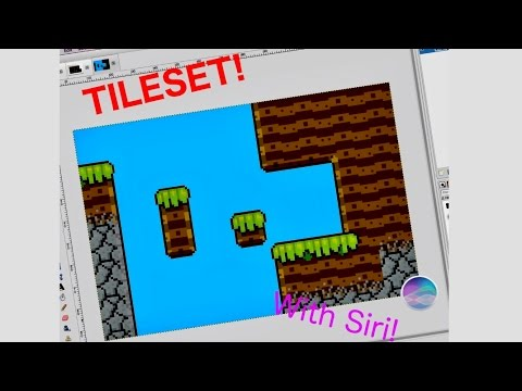 Making a small tileset | Pixel art | with Siri