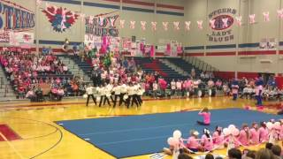 Graham HS Bella Blues Drill Team Pep-rally 10/8/15