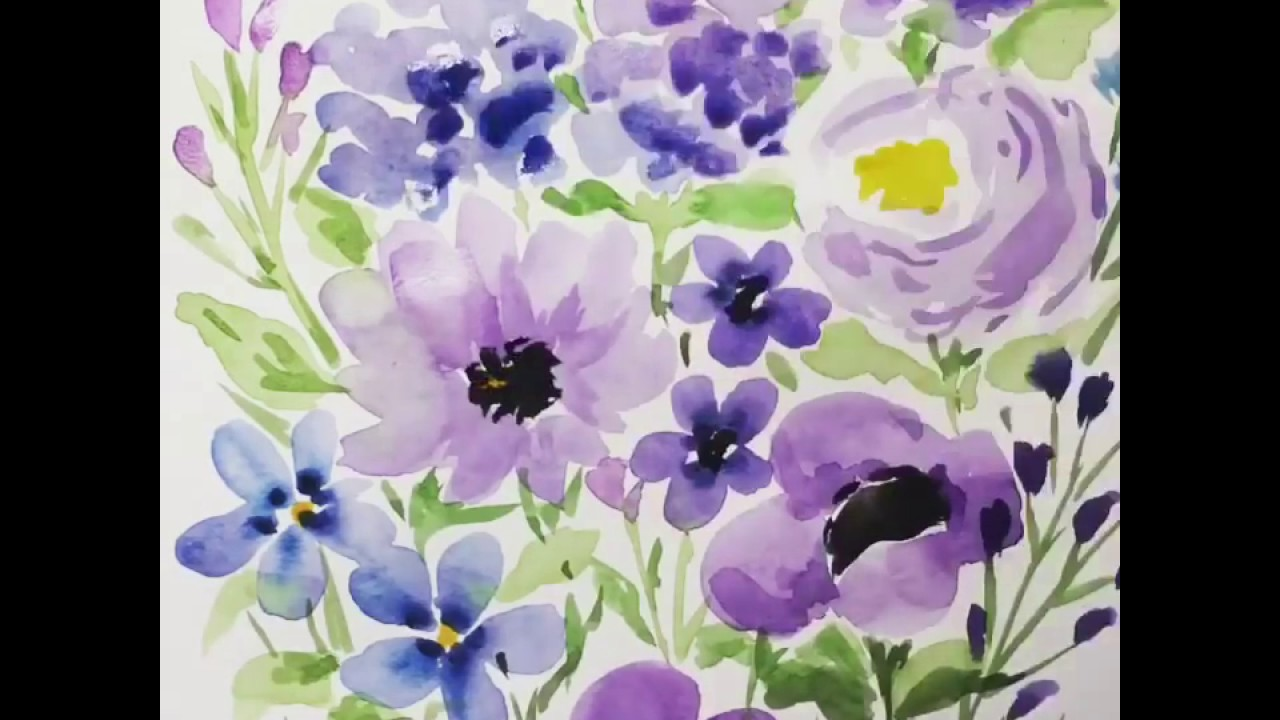Watercolor Flowers Painting