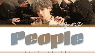 Gambar cover AGUST D - 'PEOPLE' Lyrics [Color Coded_Han_Rom_Eng]