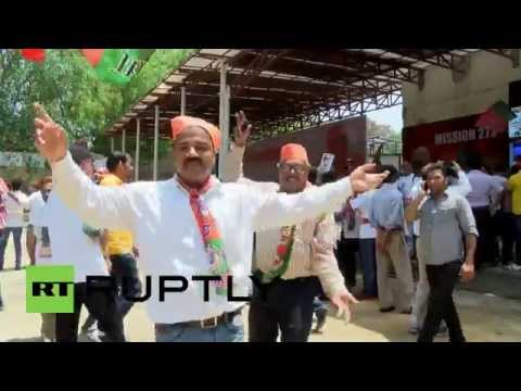 India: BJP supporters celebrate sweeping election gains