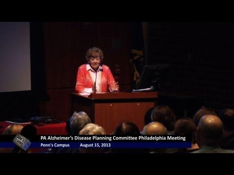 "Dene's TV Shows  ""Now Hear This""  Pennsylvania Alzheimer's Committee Meeting at Penn August 2013"